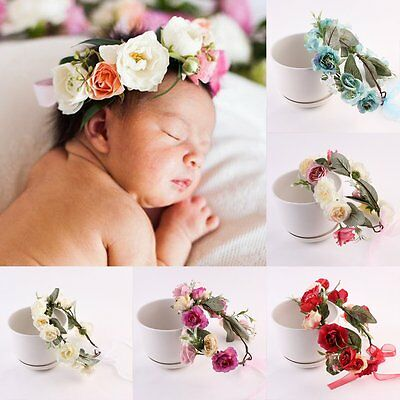 Kids Girl Baby Toddler Flower Headband Hair Band Accessories Headwear Head Wrap