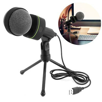 USB Audio Professional Condenser Microphone Mic Studio Recording w Shock Mount