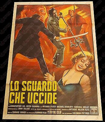1964 LO SGUARDO CHE UCCIDE The gorgon - Christopher LEE Manifesto HAMMER 100x140