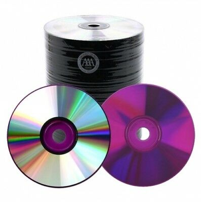 500 Spin-X 48X Purple Bottom CD-R 80min 700MB Shiny Silver