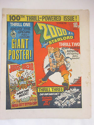 Vintage 2000AD and Starlord Issue #100