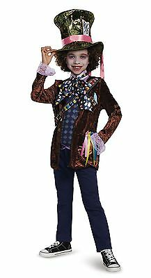 MAD HATTER ALICE THROUGH THE LOOKING GLASS CHILD COSTUME Halloween Cosplay B23