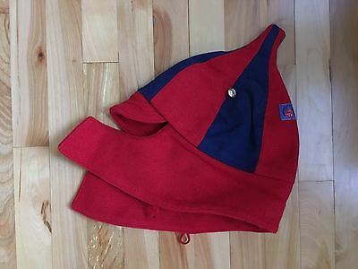 Vintage Russian Authentic BUDENOVKA Winter Wool Hat by XSPORT - Red/Blue - RARE
