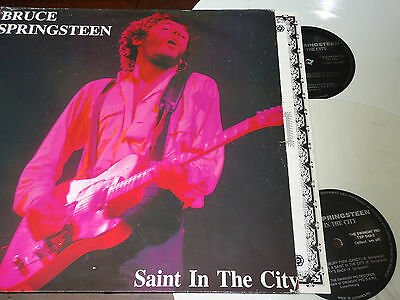 BRUCE SPRINGSTEEN - Saint In The City, 2XLP LUXEMBOURG 1990 WHITE