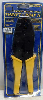 Sargent Thrift Crimp II 6540 CT Ratchet Terminal Crimping Tool 22-10 AWG w/ Dies