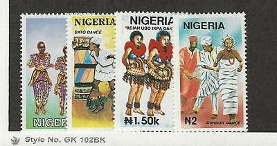 Nigeria, Postage Stamp, #608-611 Mint NH, 1992 Dancing