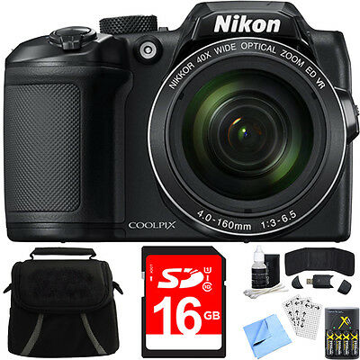 Nikon COOLPIX B500 40x Optical Zoom Digital Camera w/ Built-in Wi-Fi 16GB Bundle