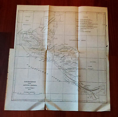 1904 German Map Mittel-America by Carl Sapper