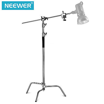 Neewer Pro 10ft/305cm Adjustable Reflector Stand w/ 4ft Holding Arm & Grid Head