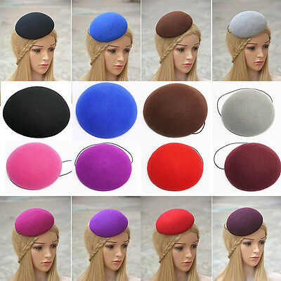 "5.5"" Circle Wool Felt Fascinator Hat Base Millinery DIY Craft Supply Party A263"