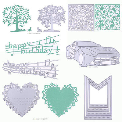 Love Heart Car Metal Cutting Dies Die Cut Stencil DIY Scrapbook Album Embossing