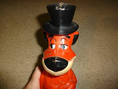 Vintage Knickerbocker Huckleberry Hound Red Plastic Bank