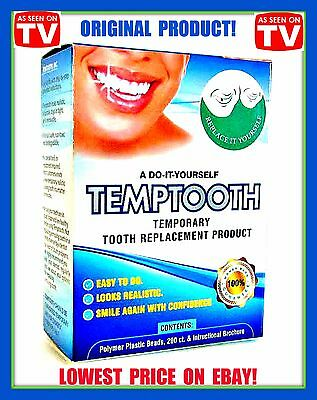 Temptooth Temporary tooth replacement Cosmetic tooth Seen on TV FDA approved!!