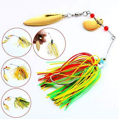 New Hot 4pcs/Lot  Hard Lure Spinner Bait For Bass Fishing Freshwater 17.4g New