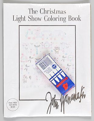 John Wanamaker Christmas Light Show Coloring Book Vintage Department Store Seale