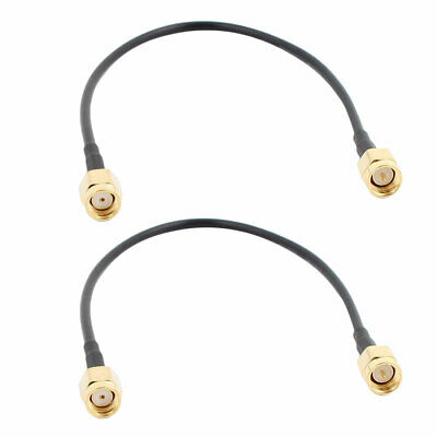 2Pcs RG174 Antenna Extension RP-SMA Female to Male Connector Pigtail Cable 20cm