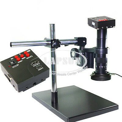 16MP 180X 1080P 60FPS HDMI HD Industry Lab Microscope Camera Set + 4GB TF Card