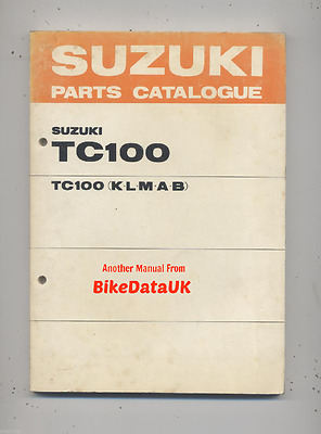 Genuine Suzuki TC100 Blazer (1973-1977) Parts List Book Catalogue Manual TC 100
