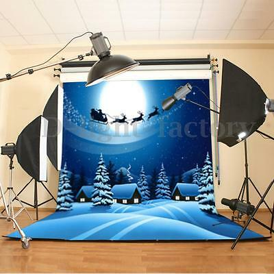 Christmas Vinyl Backdrop CP Photography Props Photo Background Snow Deer 5x7FT