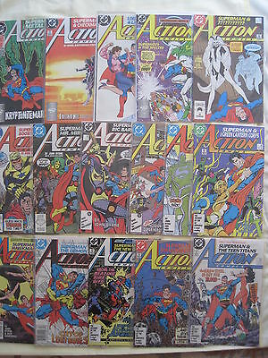 SUPERMAN ACTION COMICS #s 584 - 599. 1st 16 JOHN BYRNE NEW LOOK ISSUES. DC.1987