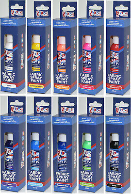 Fabric Fashion Spray Paint Permanent Art Craft T-Shirt Textiles Assorted Colours