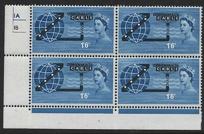 1963 1/6 Cable Mint Control Block Of Four (O) Sg 645