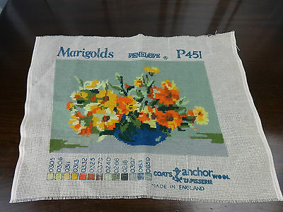 Marigolds Penelope Tapisserie Vintage Tapestry Coats & Anchor Wool P451 complete