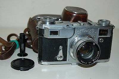 Kiev-2a RARE Soviet Rangefinder Camera + Case. 1956. Jupiter-8. 5639591. UK Sale
