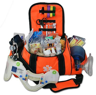 Lightning X Deluxe Stocked Large EMT First Aid Trauma Bag Fill Kit w/ Supplies O