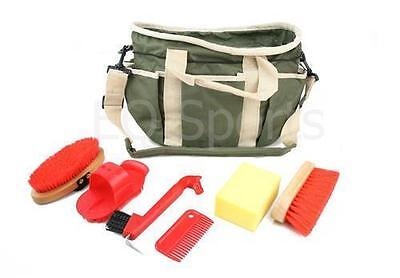 FAST P&P Kids Grooming Kit Bag with Accessories Khaki With Red Accessories
