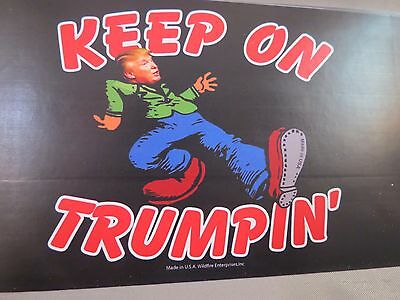 Lot Of 20 Keep On Trumpin' Donald Trump For President Bumper Sticker  2016 Decal