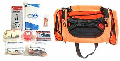 First Responder Paramedic Trauma Emergency Medical Kit Fully Stocked Bag