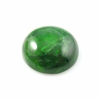 Gemstone Cabochon -Grade A Chrome Diopside Small Round Cabochon Gem-12mm- 2 pcs