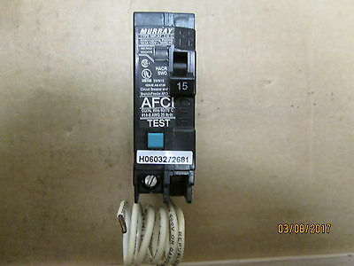 New Other, Murray Mp115Af, 15 Amps, 1 Pole, Arc Fault Circuit Interruptor.
