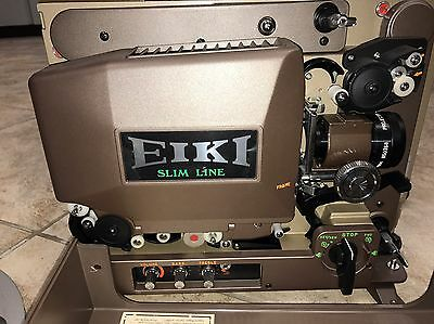 EIKI SNT/3585 Slimline AUTO THREAD Movie Projector Family Owned Barely Used