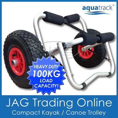 AQUATRACK COLLAPSIBLE COMPACT KAYAK TROLLEY Alloy Frame - Canoe/Ski Carrier Cart