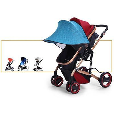 Baby Infant Stroller Pram Sun Shade UV Protection Rays Cover Awning Blue Kid LG