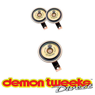 FISA Car/Van/Vehicle Twin Tone Horn 90mm Diameter With Fitting Kit