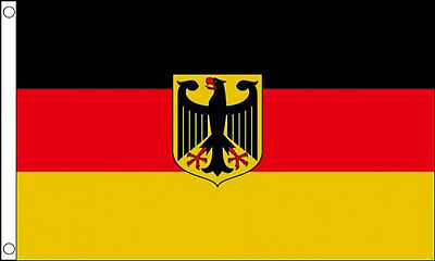 GERMAN EAGLE FLAG 5' x 3' Germany State Crest Flags Europe European