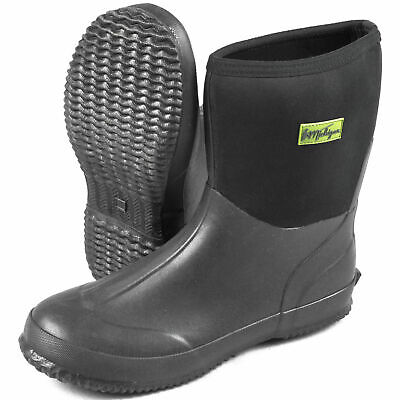 Michigan Black Neoprene Waterproof Outdoor Garden Wellington Muck Boots