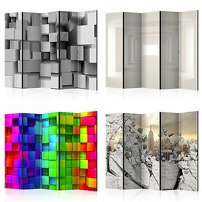 DECORATIVE PHOTO FOLDING SCREEN WALL ROOM DIVIDER ABSTRACT d-A-0045-z-b