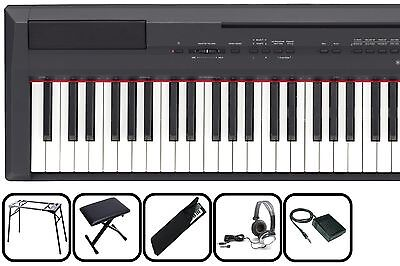 Yamaha P115 B Black - transportables Piano MEGA-SET