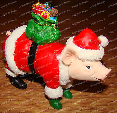 Santa Pig (This Little Piggy by Westland Giftware, 16850) Holiday Decor