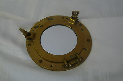 """Vintage Style SOLID Brass Ship Boat Port Hole MIRROR 7"""" OD"""