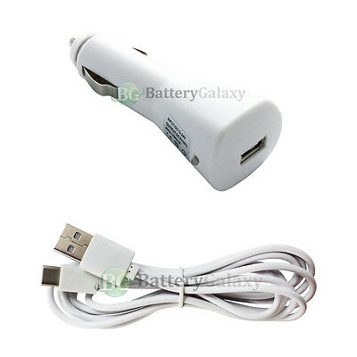 6FT USB Type C Cable+Car Charger for Phone Motorola Moto Z Force / Z Play Droid