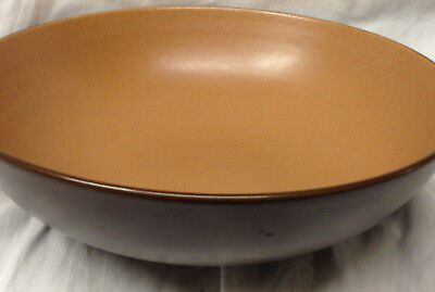 "Amcrest Braystone Russet Round Serving Bowl 9"" Light & Dark Brown"