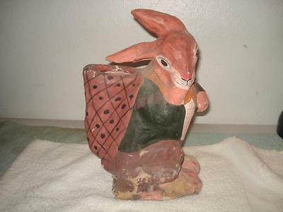 Vintage Paper Mache Easter Bunny Rabbit Candy Container