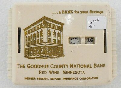 Vintage Coin Bank From Goodhue County National Bank , Red Wing Minnesota
