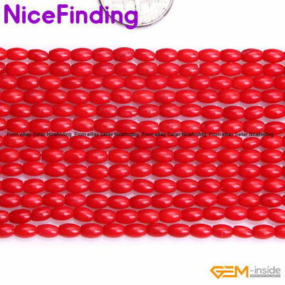 """3x5mm Olivary Coral Rice Stone Beads For Jewelry Making Loose Beads Strand 15"""""""