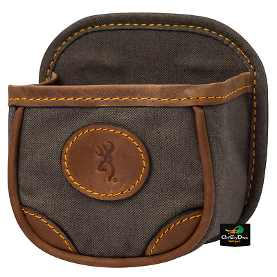 New Browning Lona Canvas And Leather Shell Box Carrier Pouch Flint Buckmark Logo